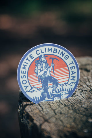 Yosemite Climbing Team Sticker - The Parks Apparel