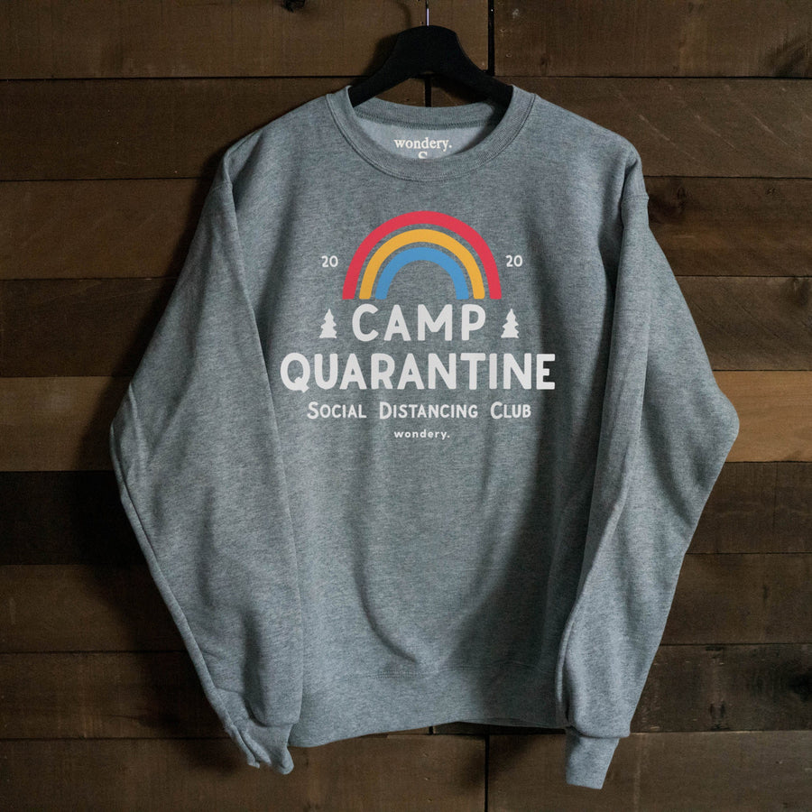 Limited Edition Camp Quarantine Heather Crewneck - Wondery, A Parks Apparel Brand