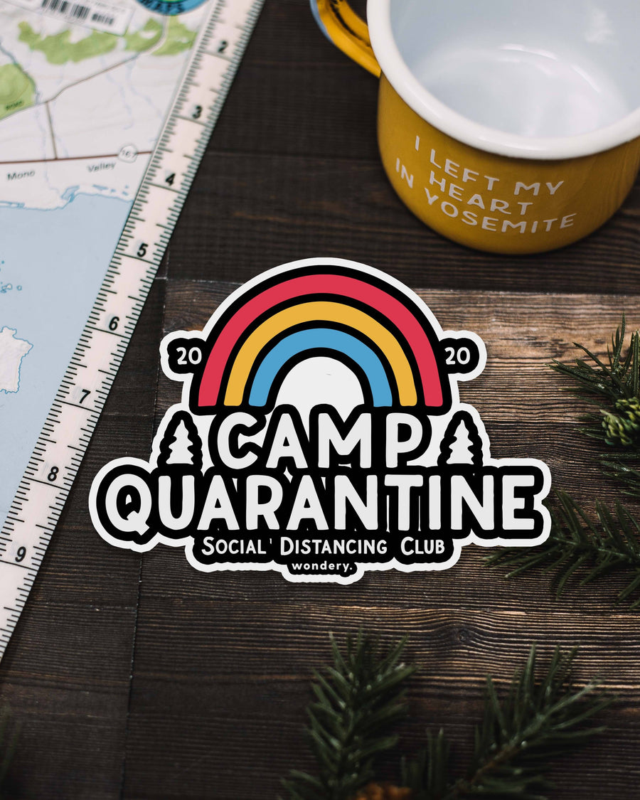 Limited Edition Camp Quarantine Sticker - Wondery, A Parks Apparel Brand