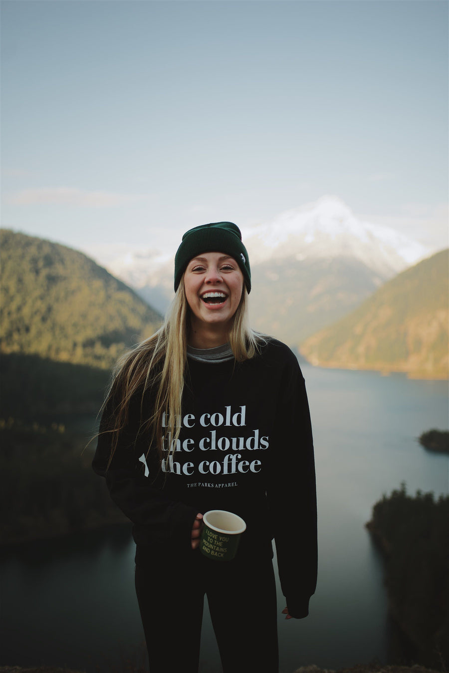 Cold, Clouds & Coffee Crewneck - Wondery, A Parks Apparel Brand