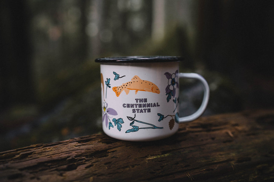 Colorado on my Mind Enamel Mug - Wondery, A Parks Apparel Brand
