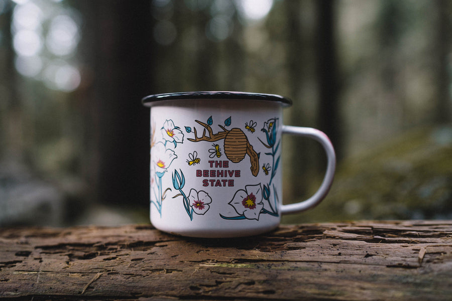 Utah on my Mind Enamel Mug - Wondery, A Parks Apparel Brand