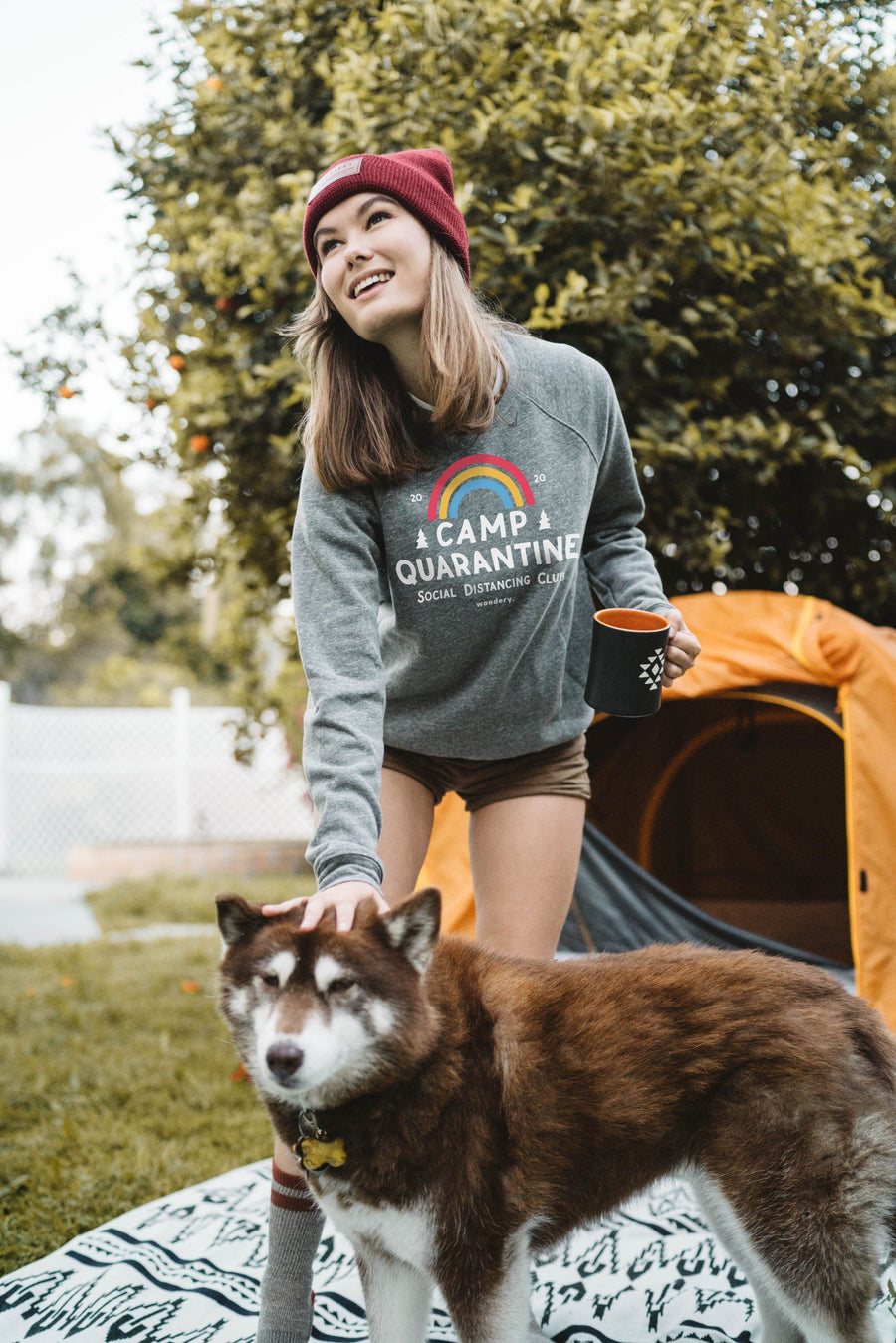 Camp Quarantine Fleece Raglan - Wondery, A Parks Apparel Brand