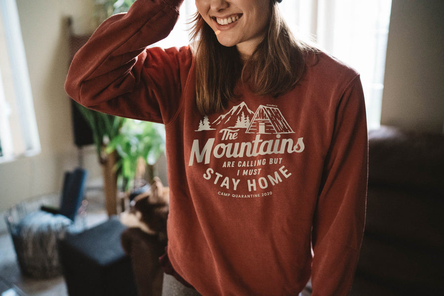 Limited Edition Stay Home Crewneck - Wondery, A Parks Apparel Brand
