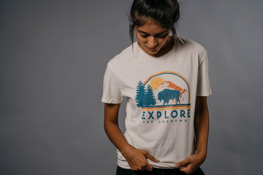 Explore the Unknown Distressed Tee - Wondery, A Parks Apparel Brand