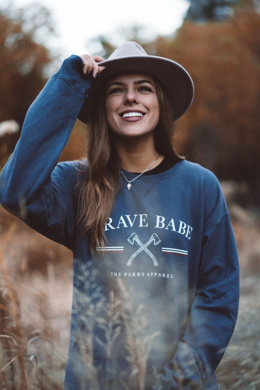 Vintage Brave Babe Crewneck - The Parks Apparel
