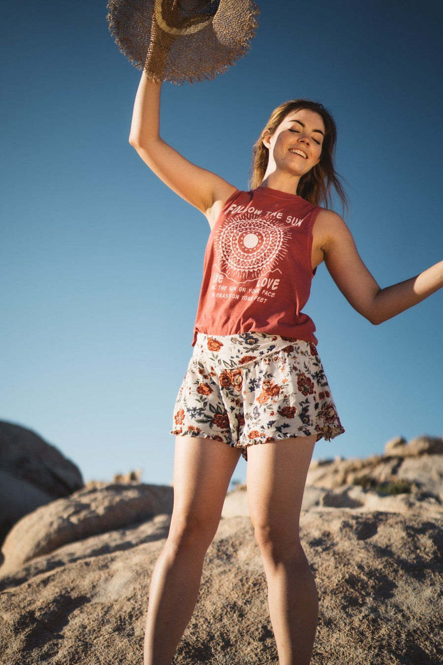 Follow The Sun Muscle Tank - Wondery, A Parks Apparel Brand