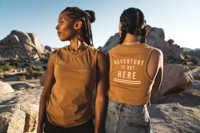 Adventure is Out Here Jersey Tank - Wondery, A Parks Apparel Brand