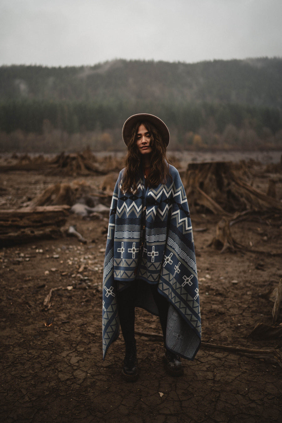 Explorers Wraparound Blanket // Junapera Blue Edition - Wondery, A Parks Apparel Brand