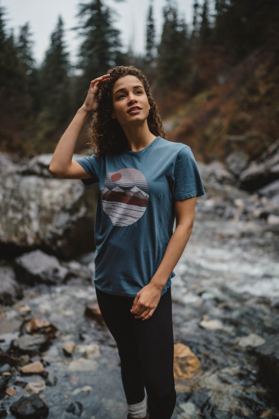 Geo Mountains Tee - Wondery, A Parks Apparel Brand