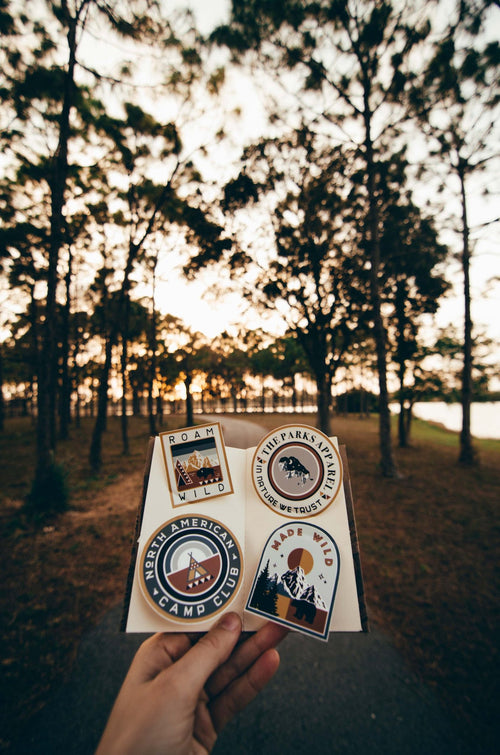 The Parks Camp Club Sticker Set (4 Pack)