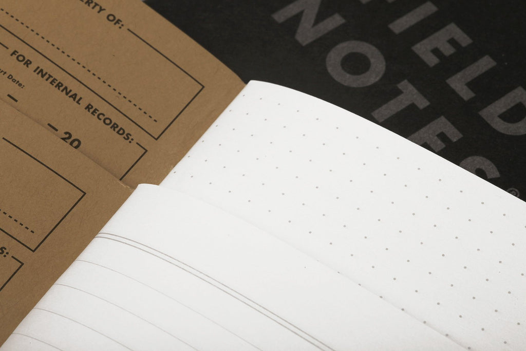 Pitch Black Field Notes | 3-Pack - Wondery