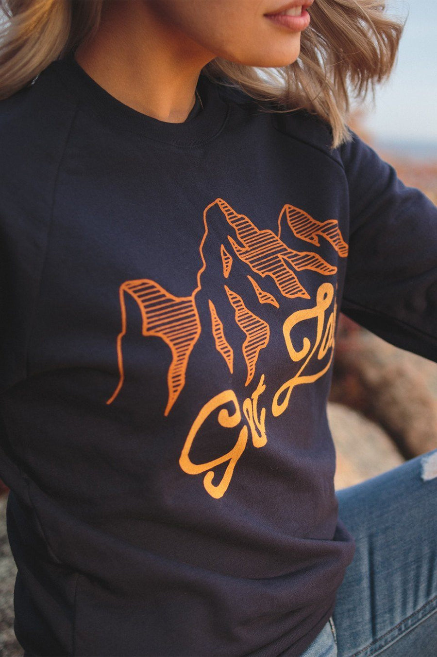 Get Lost Classic Crewneck - Wondery, A Parks Apparel Brand