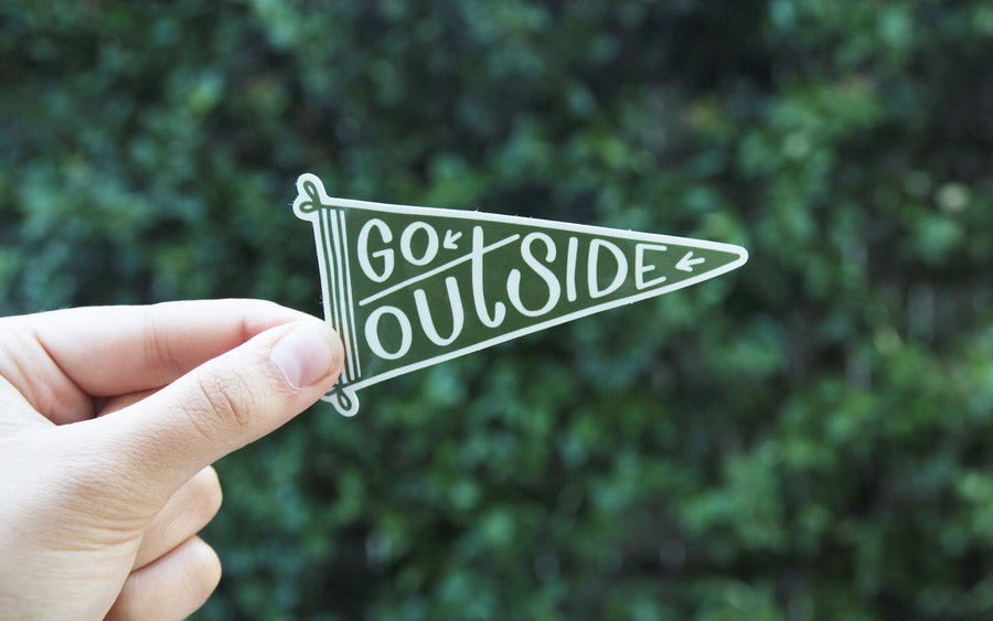 Go Outside Pennant Sticker - Wondery, A Parks Apparel Brand