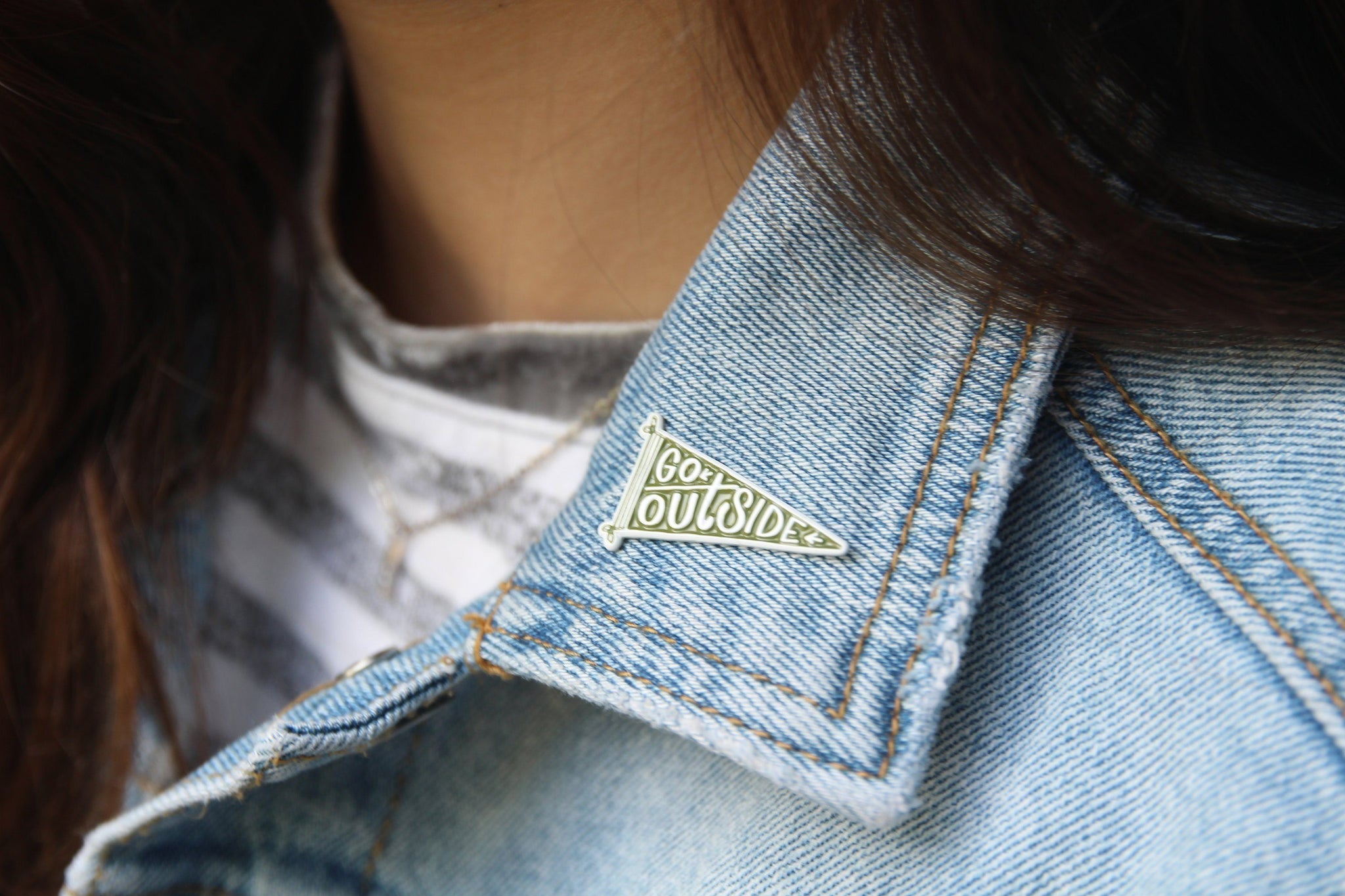 Go Outside Enamel Pin - The Parks Apparel