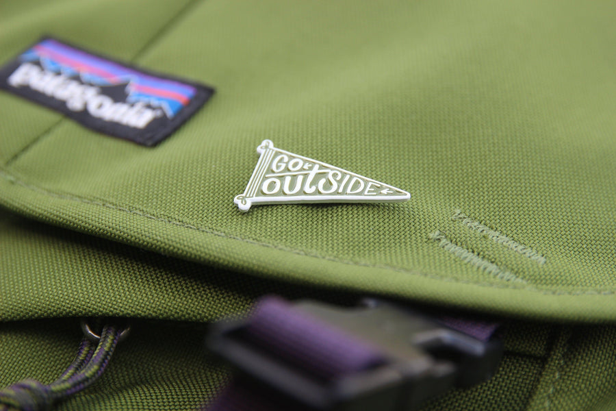 Go Outside Enamel Pin - Wondery, A Parks Apparel Brand