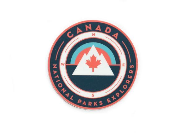 Canada Maple Leaf National Parks Sticker