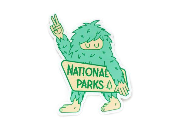 Sasquatch National Park Sticker - Wondery, A Parks Apparel Brand