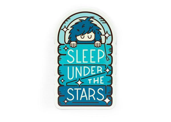 Bigfoot Sleep Under The Stars Sticker - Wondery, A Parks Apparel Brand