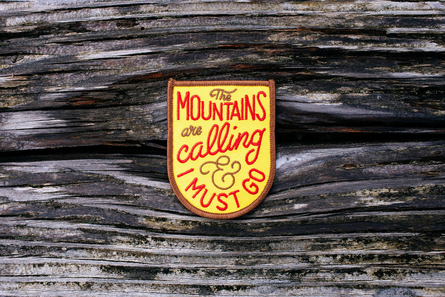 Mountains Are Calling Patch - Wondery, A Parks Apparel Brand