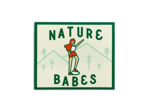 Nature Babe Vinyl Sticker - Wondery, A Parks Apparel Brand