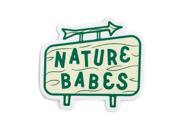Nature Babes Sign Vinyl Sticker - Wondery, A Parks Apparel Brand