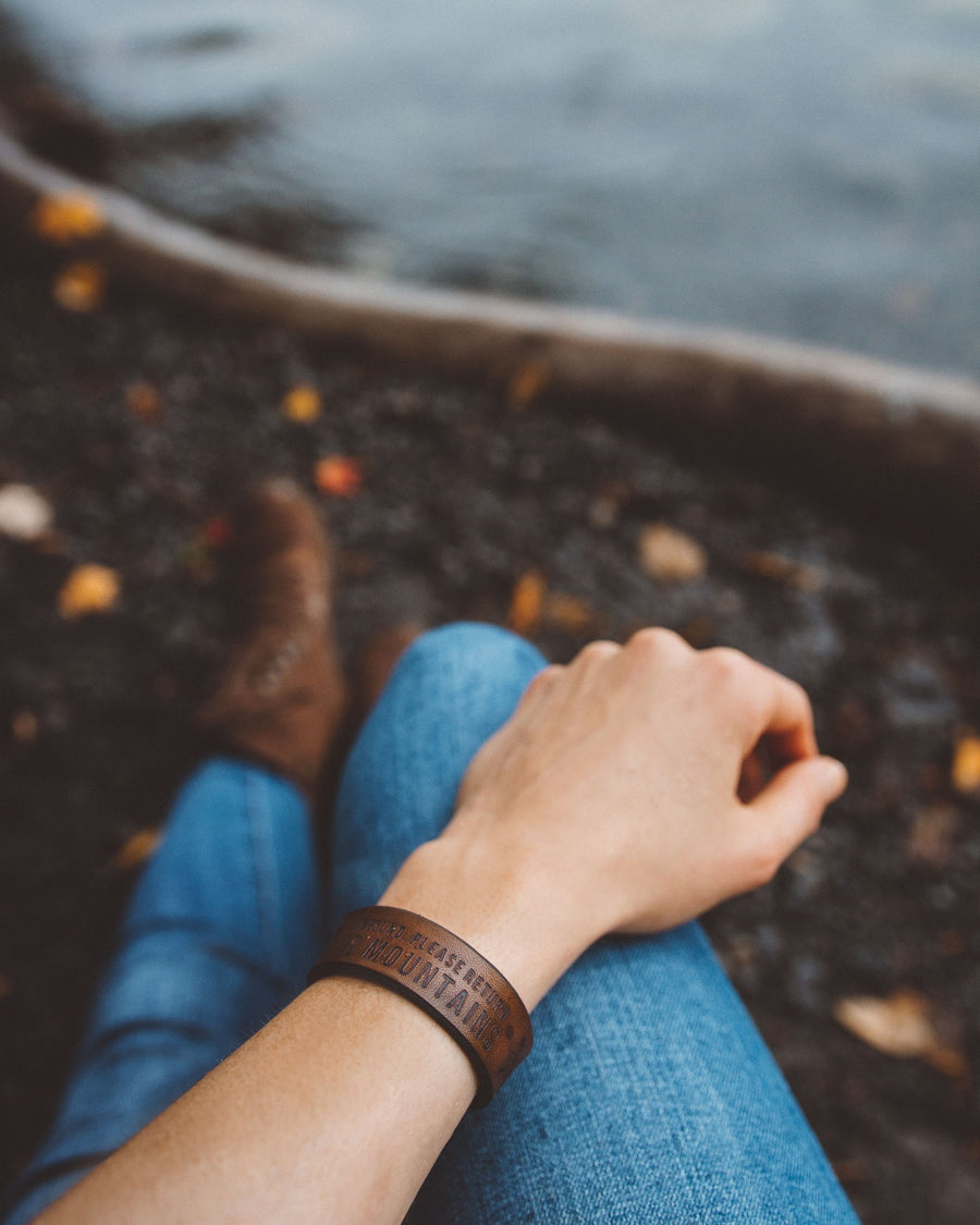 Home Leather Bracelet - Wondery, A Parks Apparel Brand