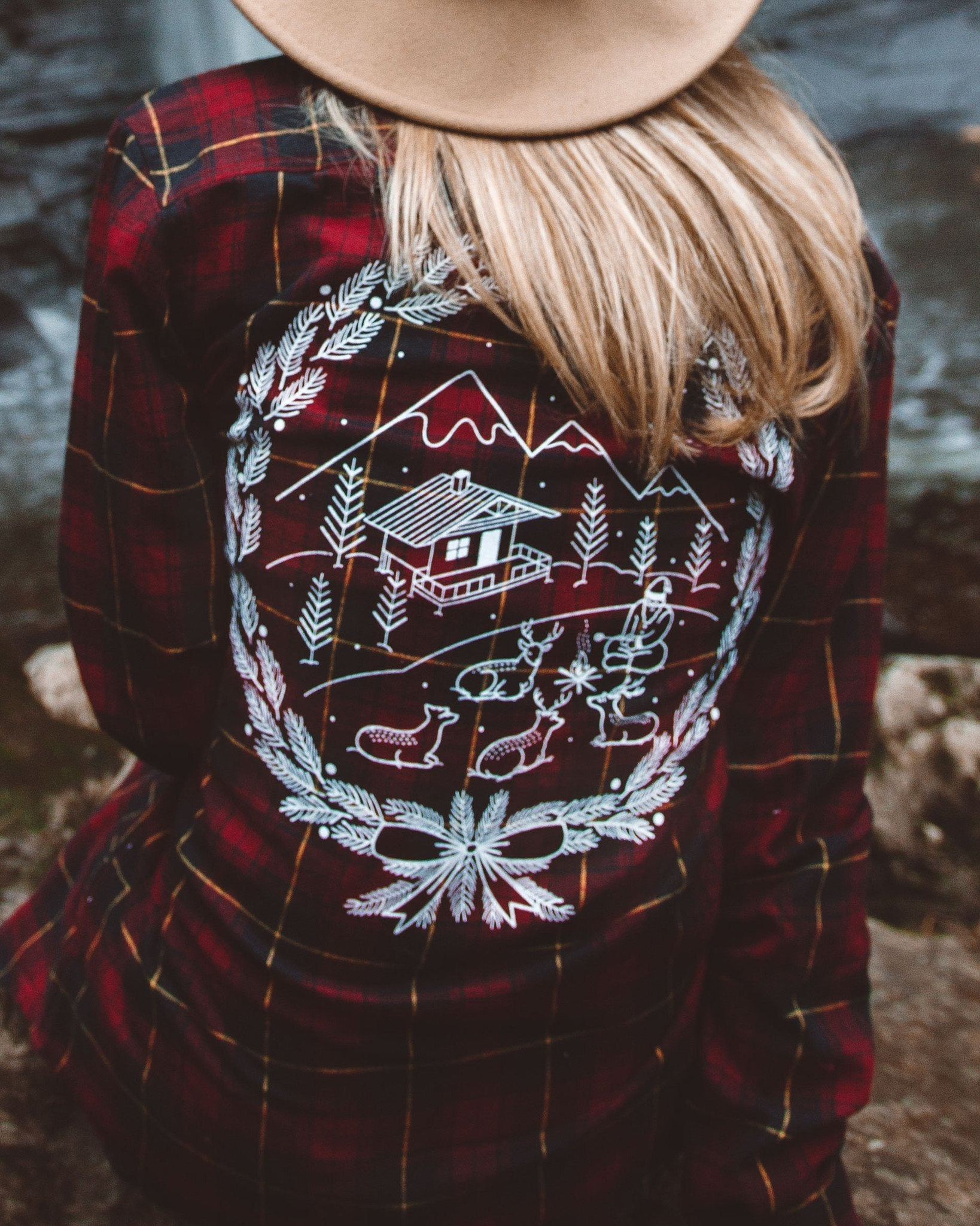 The Parks Holiday Cabin Fever Flannel (Boyfriend Fit)