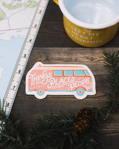 Retro Bus Sticker - The Parks Apparel