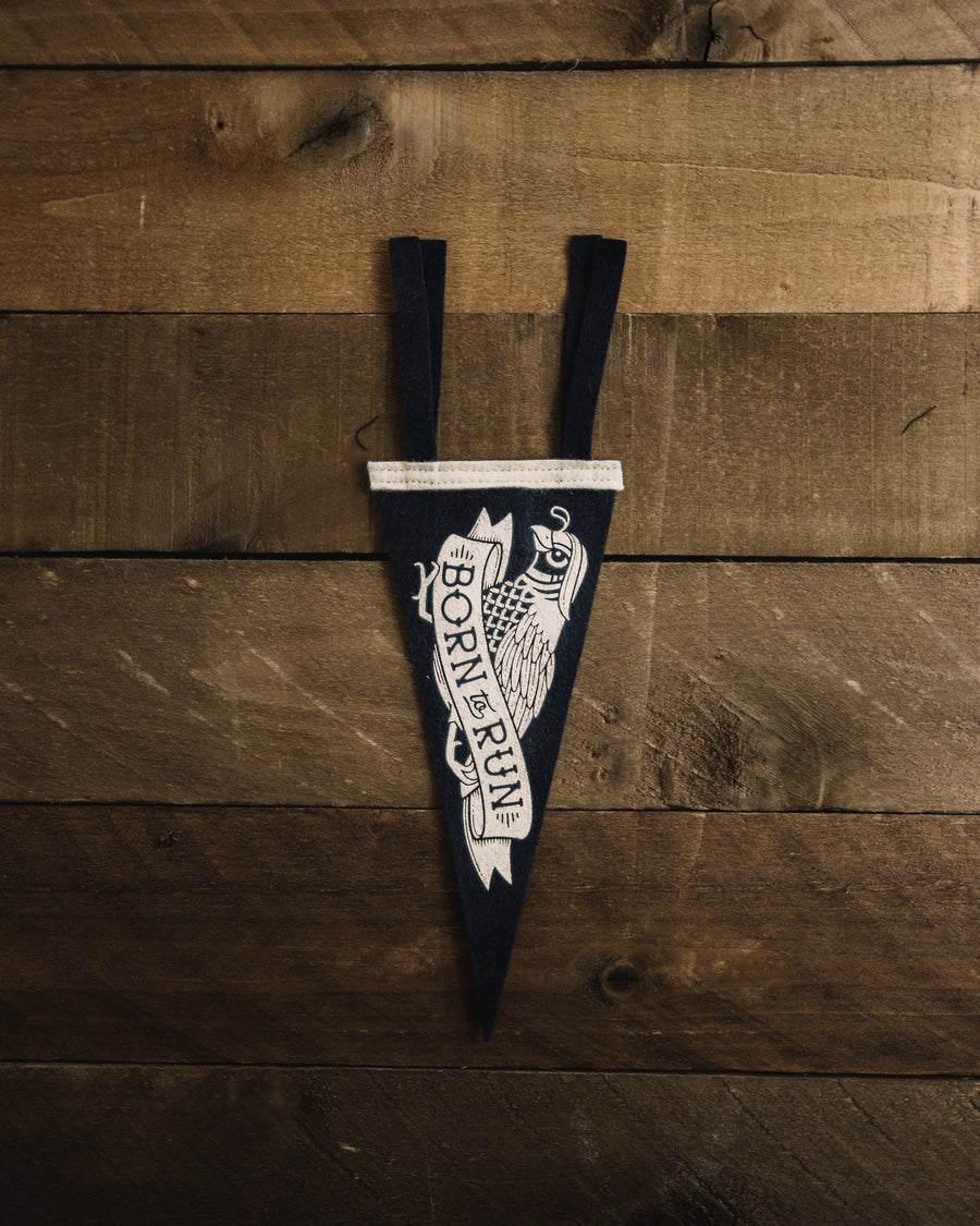 Born To Run Mini Pennant - Wondery, A Parks Apparel Brand