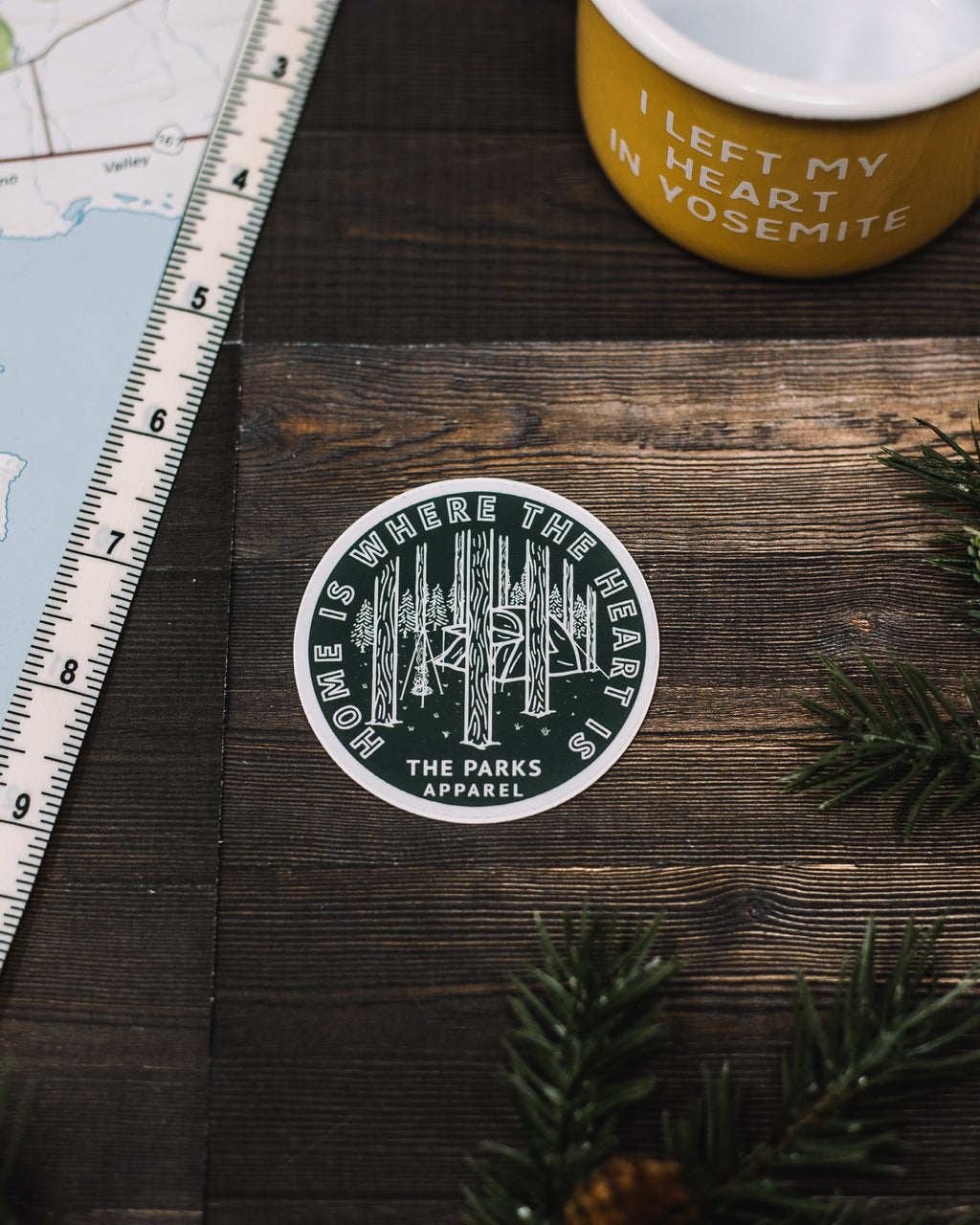 Home Is Where The Heart Is Sticker - The Parks Apparel