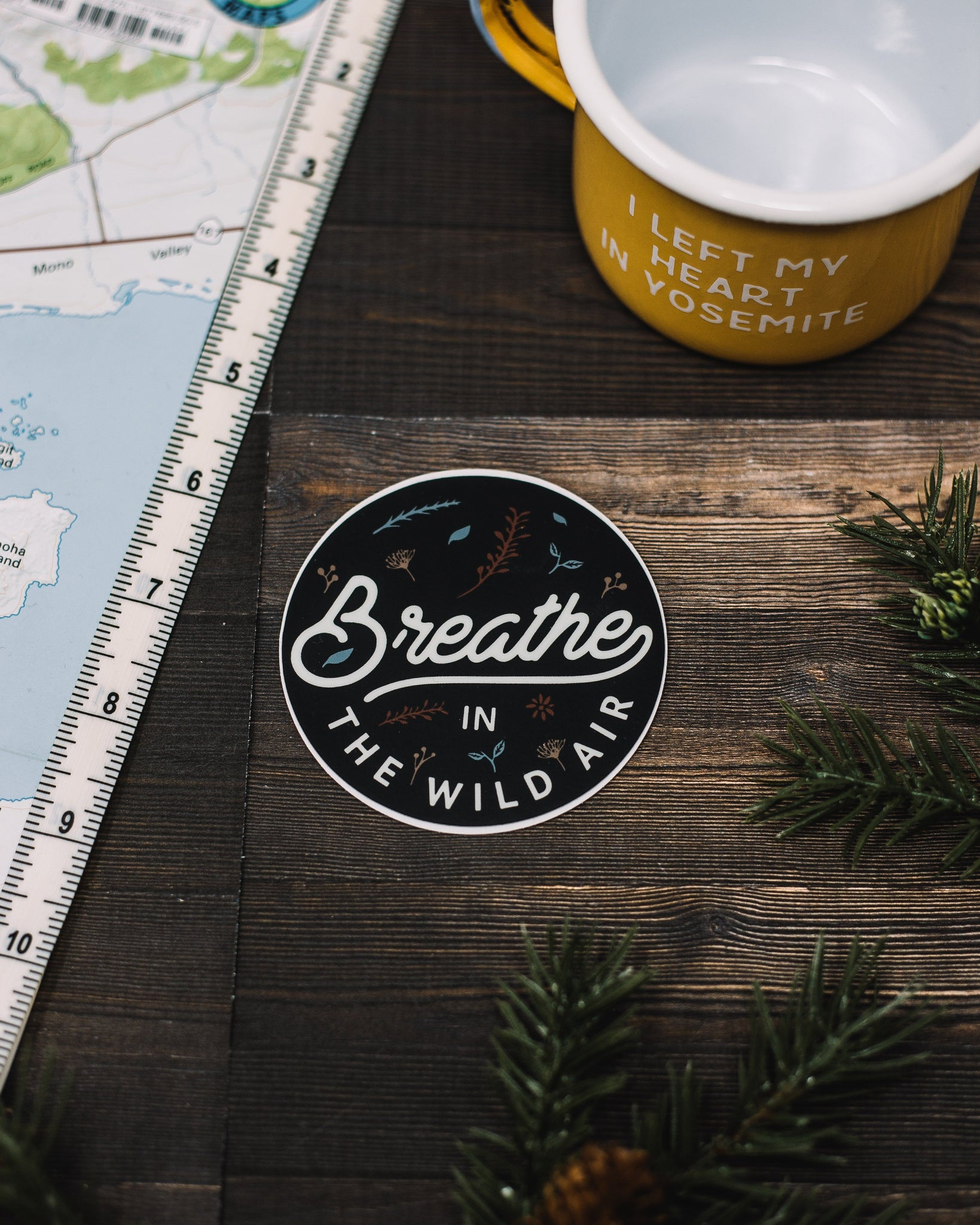 Breathe in the Wild Air Sticker - The Parks Apparel