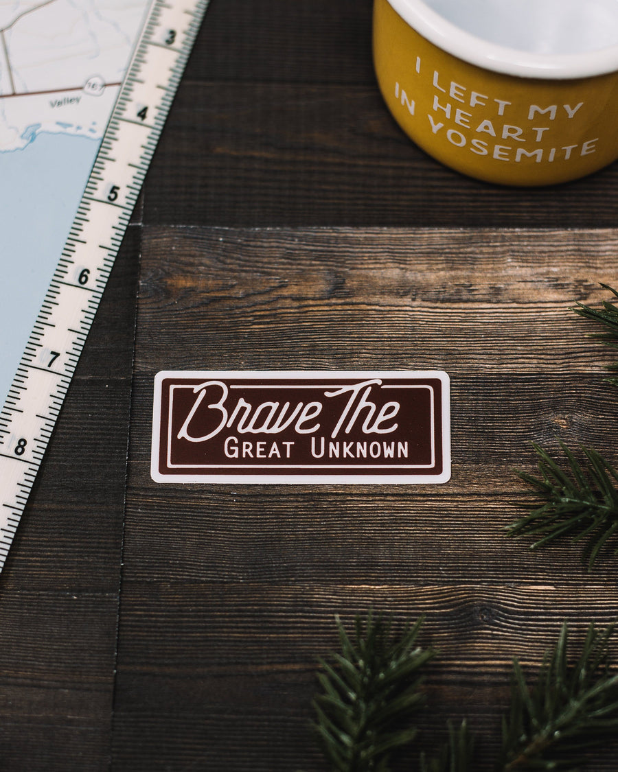 Brave The Great Unknown Sticker - Wondery, A Parks Apparel Brand
