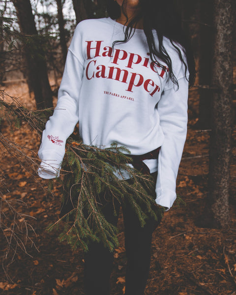 Happier Camper Price >> The Parks Holiday Happier Camper Crewneck Sweater – The Parks Apparel