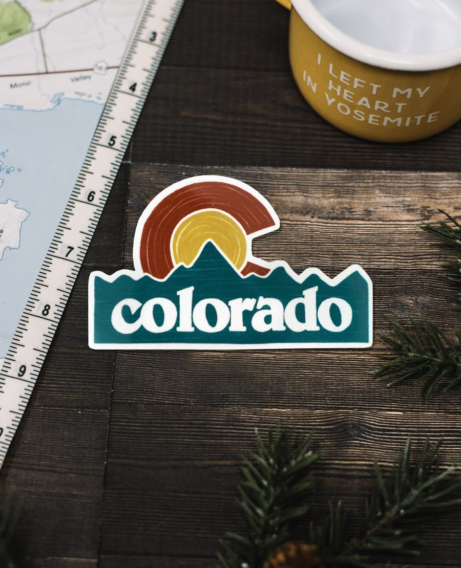 Colorado State Flag Sticker - Wondery, A Parks Apparel Brand