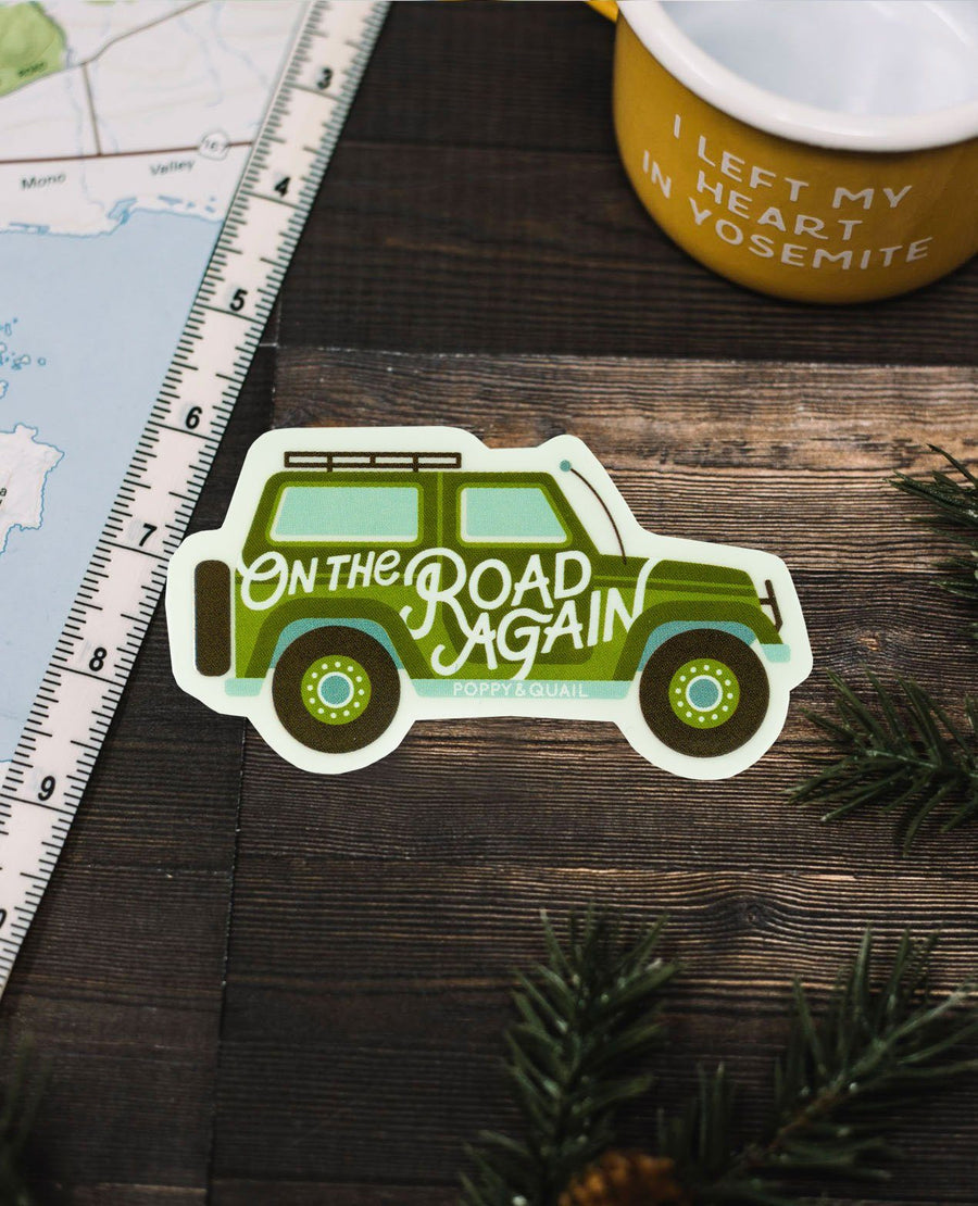 On The Road Again Sticker - Wondery, A Parks Apparel Brand