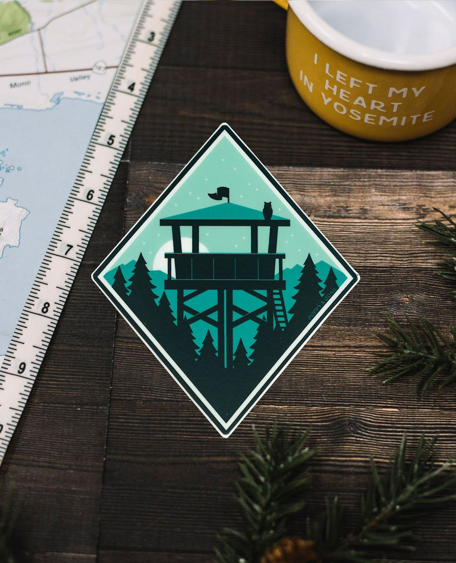 Lookout Sticker - Wondery, A Parks Apparel Brand