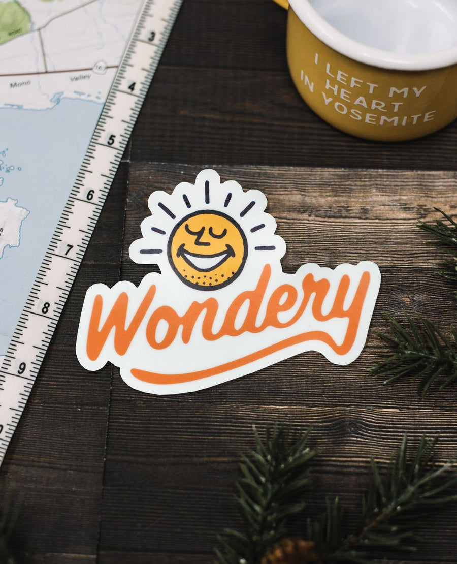 Wondery Sunshine Sticker - Wondery, A Parks Apparel Brand