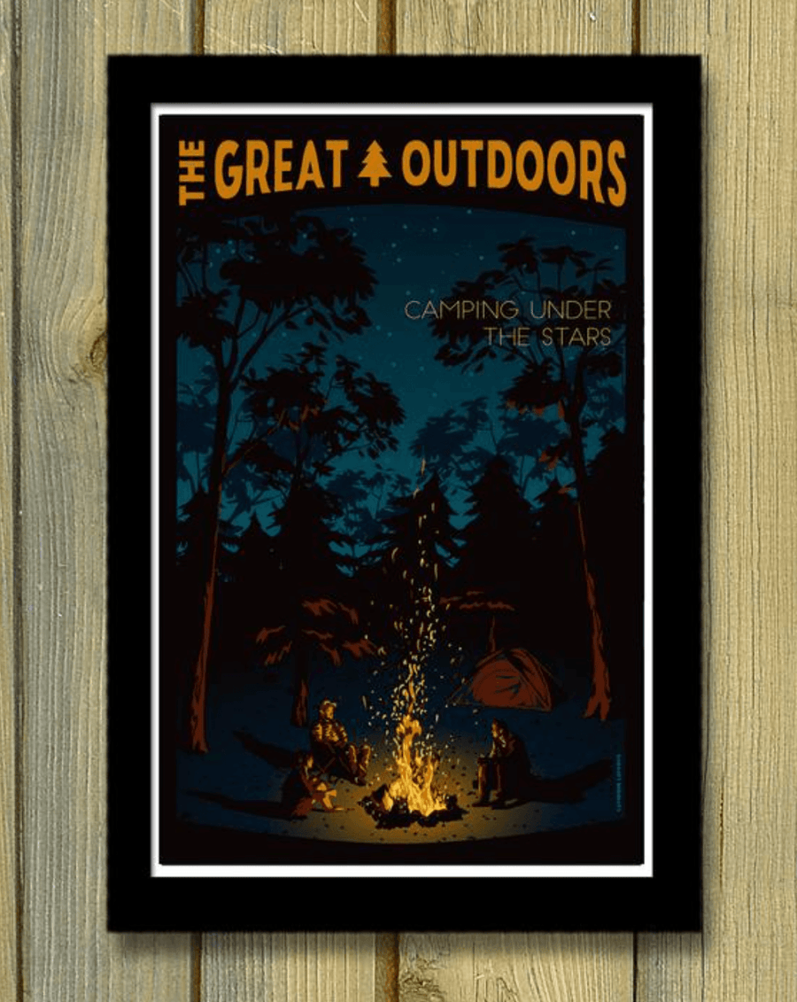 Camping Under the Stars Poster - Wondery, A Parks Apparel Brand