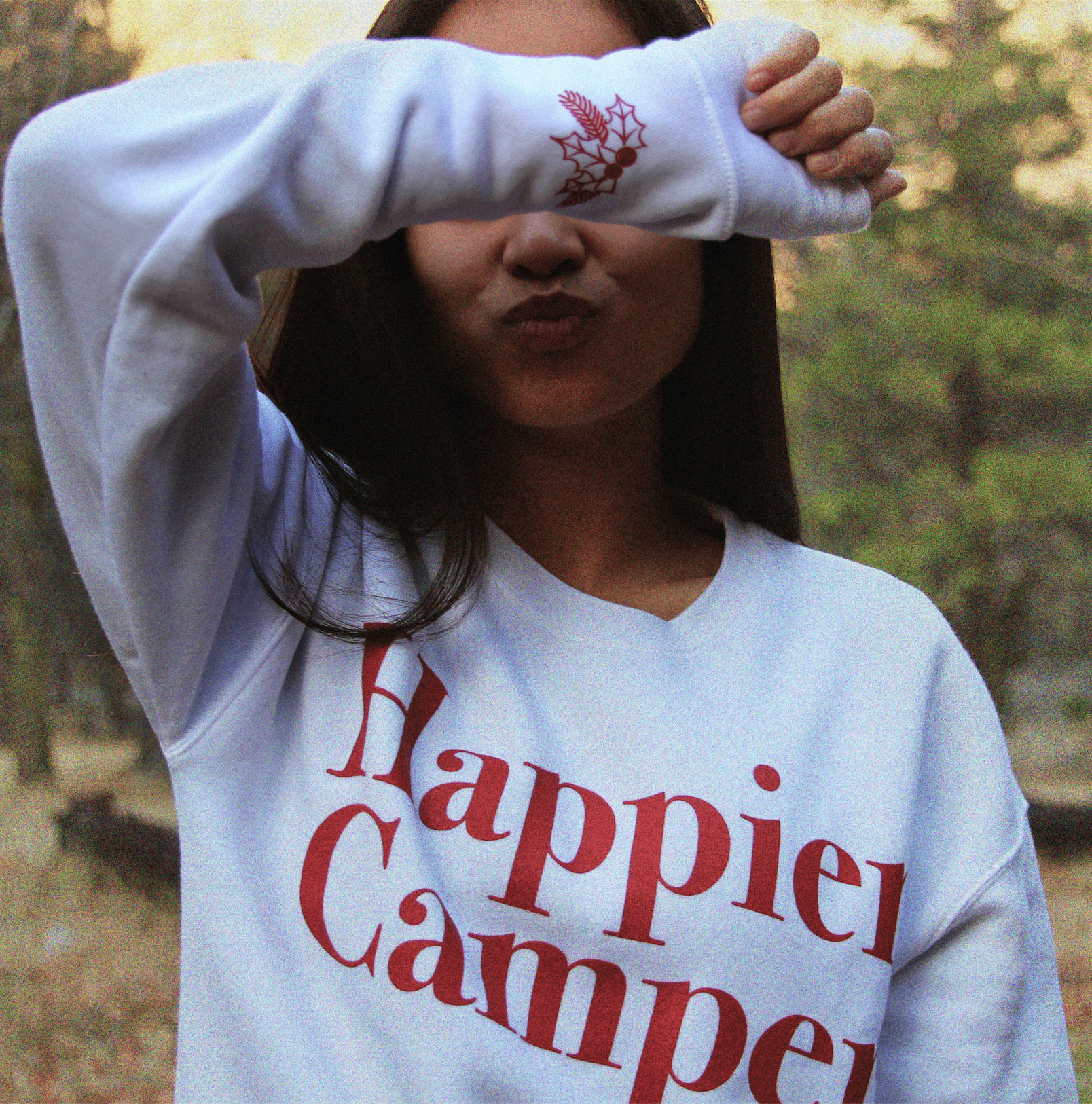 The Parks Holiday Happier Camper Crewneck Sweater