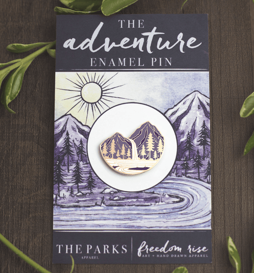 The Parks & Freedom Rise Adventure Enamel Pin