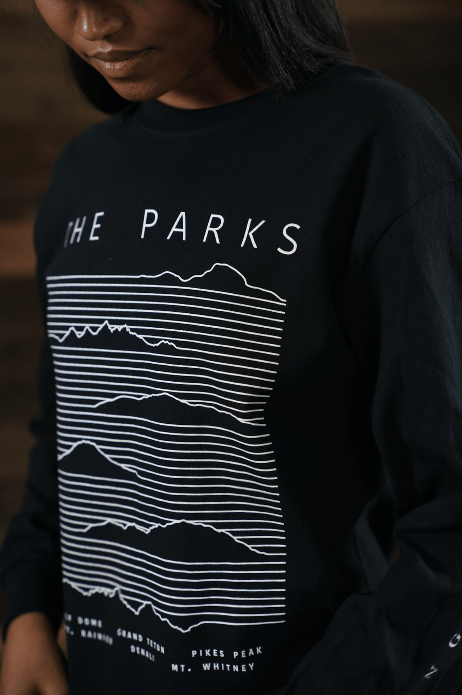 Moving Mountains Heavy Long Sleeve Tee - Wondery, A Parks Apparel Brand