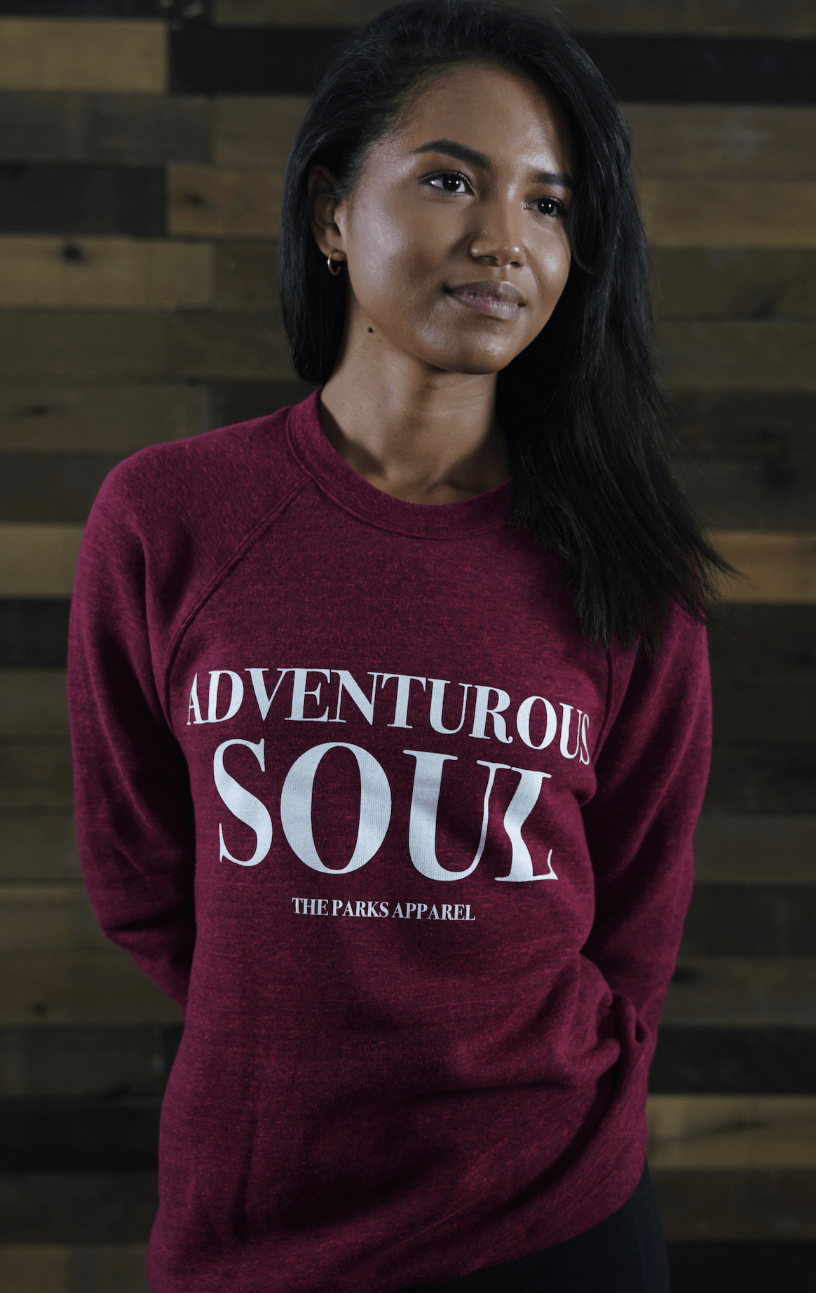 Red Adventurous Soul Crewneck - The Parks Apparel