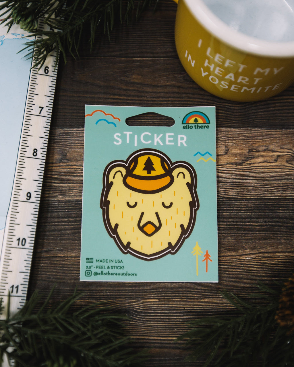 Ranger Bear Sticker - The Parks Apparel