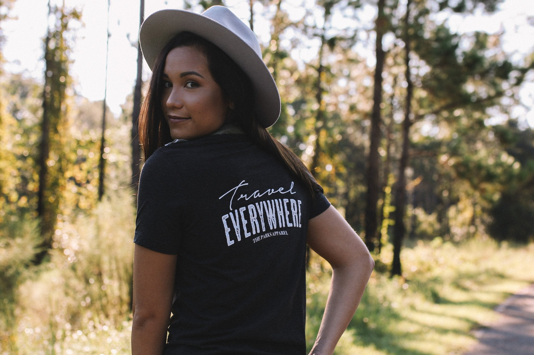 The Parks Travel Everywhere Women's Cropped Tee - The Parks Apparel