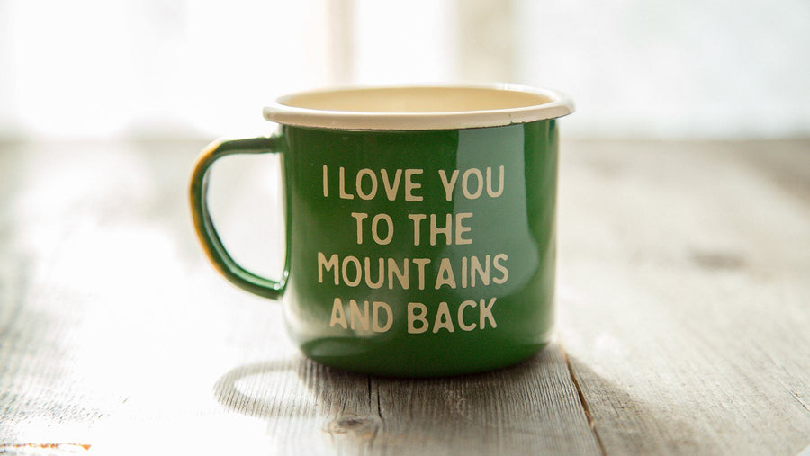 Mountain Lovin' Enamel Camp Mug - Wondery, A Parks Apparel Brand