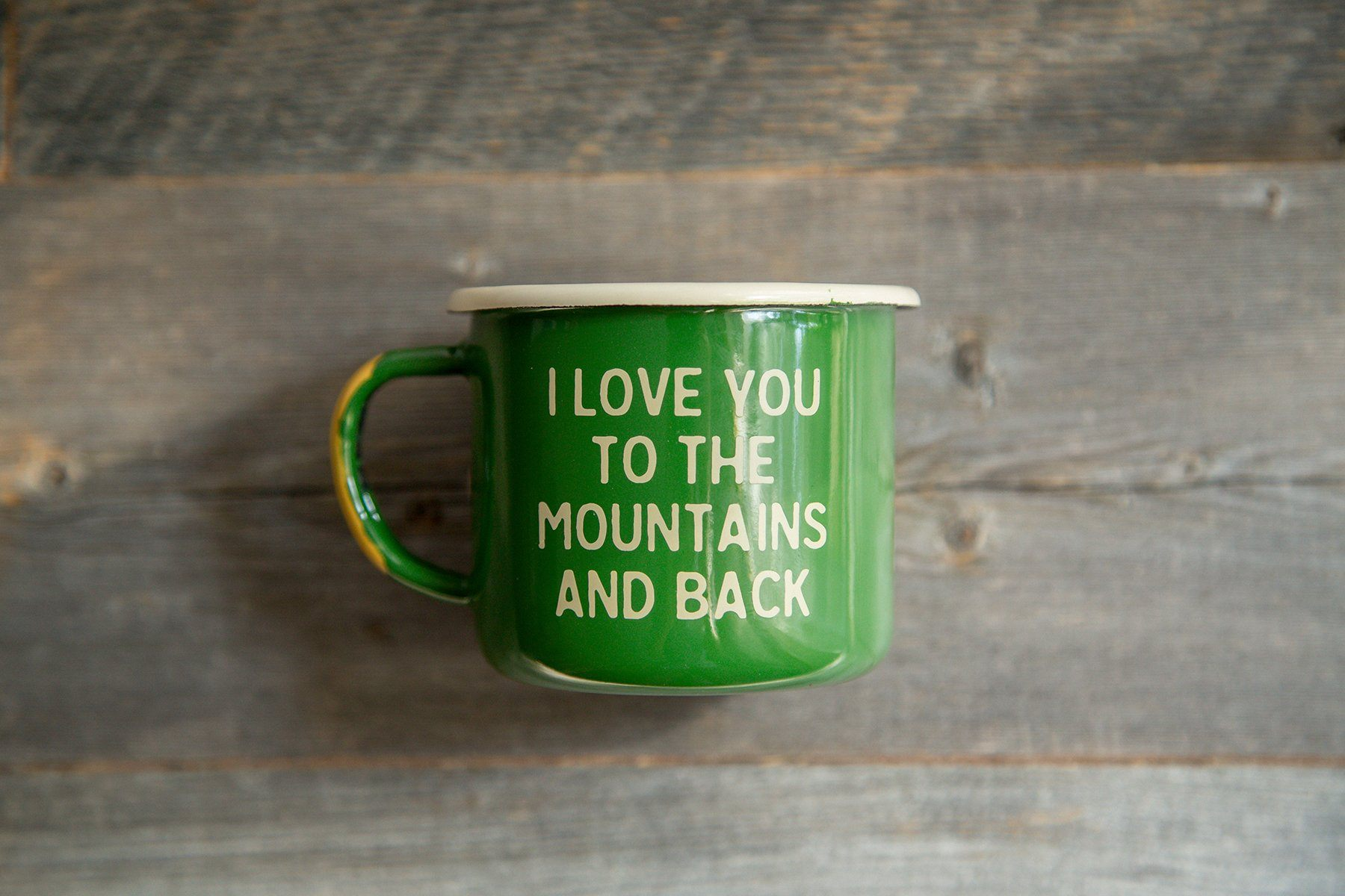 Mountain Lovin Enamel Camp Mug Wondery
