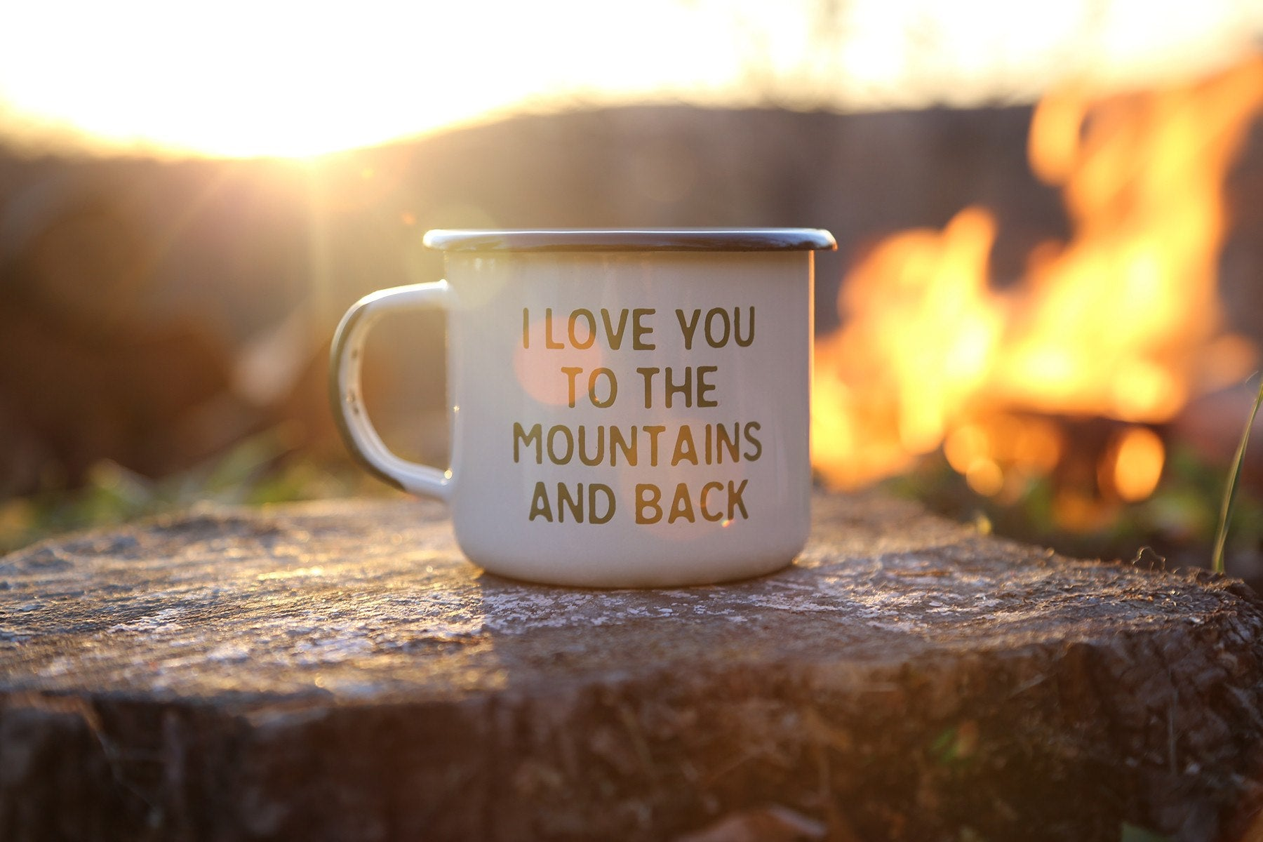 Mountain Lovin' Enamel Camp Mug - The Parks Apparel