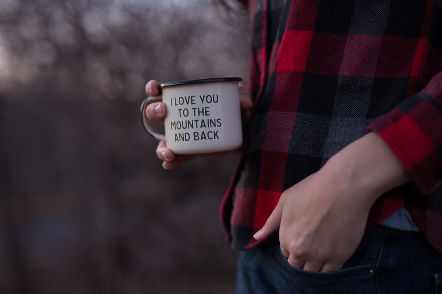 Mountain Lovin' Enamel Camp Mug - Wondery