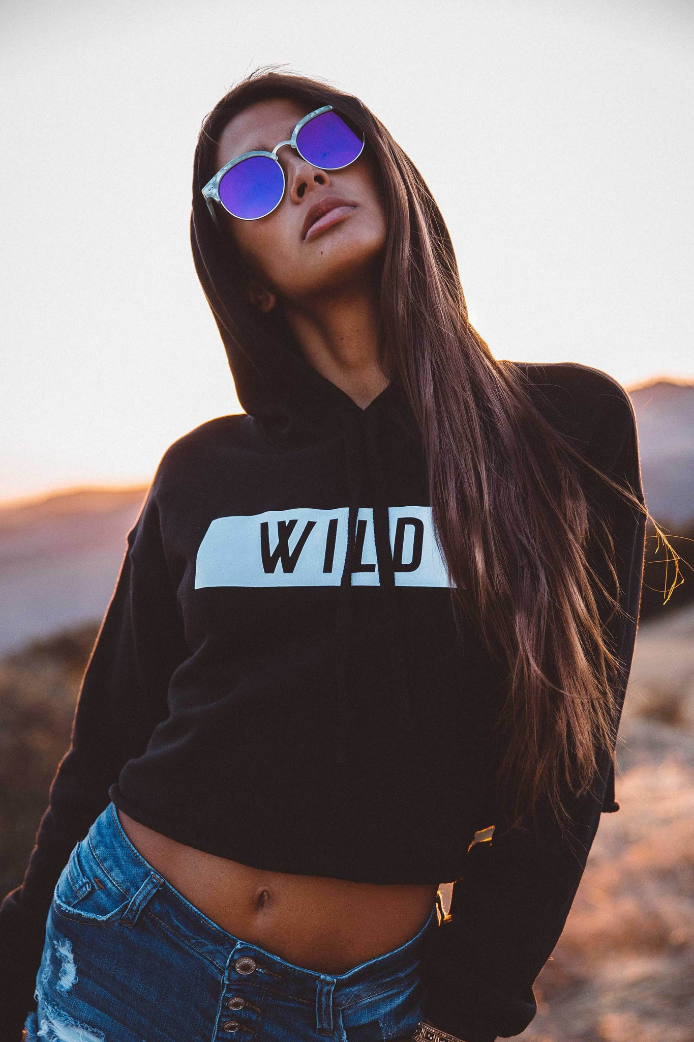 The Parks WILD Cropped Hoodie - The Parks Apparel
